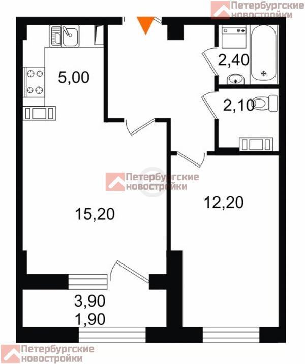 1 комнатная квартира в спб купить от застройщика когда
